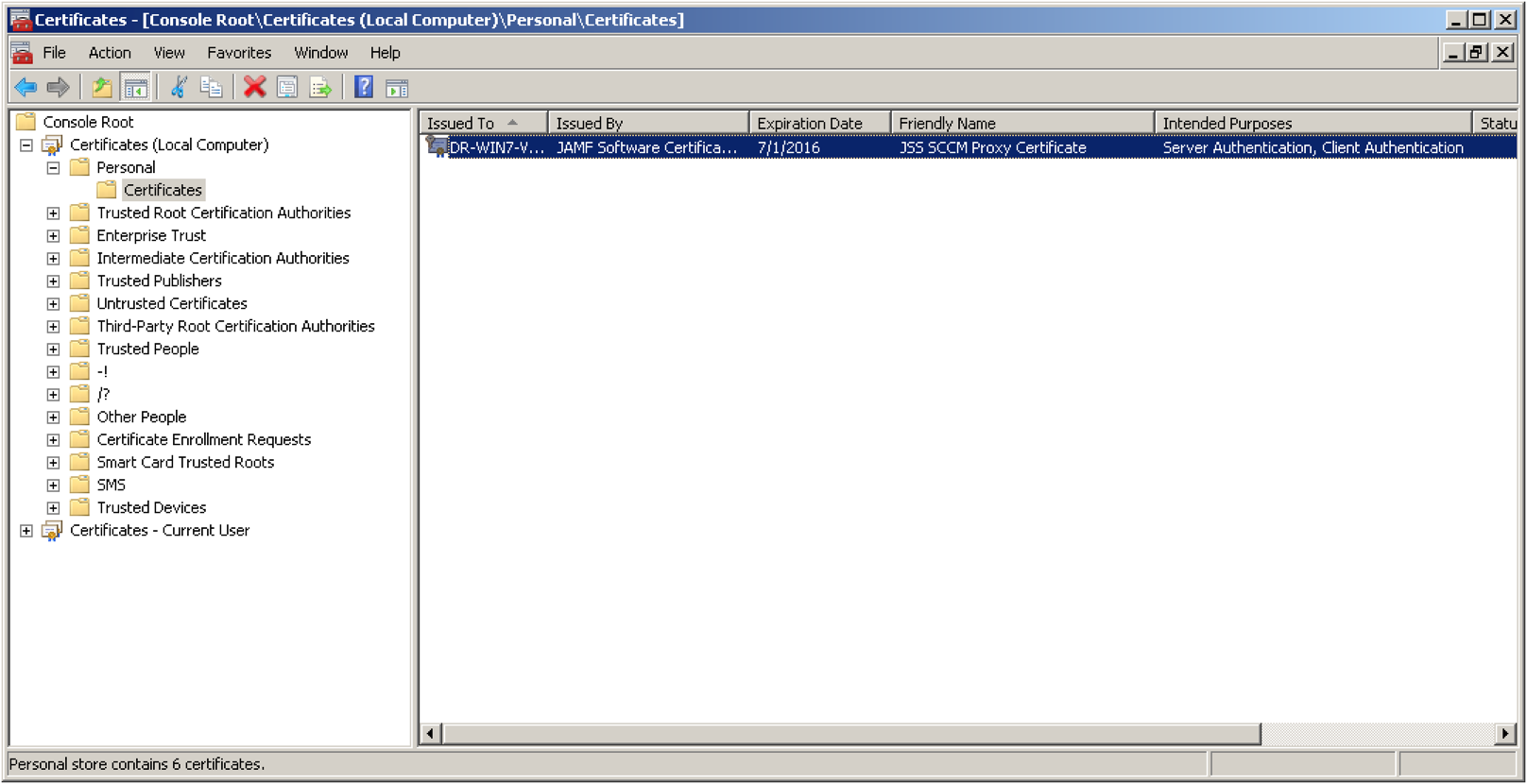 Configuring Self-Signed Certificates for the Jamf SCCM Plug-in 3 40